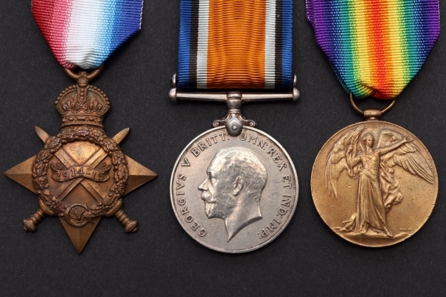 WW1 Medals 1914-15 Star Trio