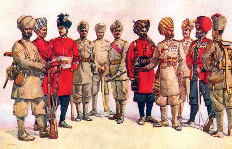 Indian Infantry Regiments WW1