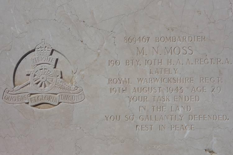 Pembroke Military Cemetery Malta Moss