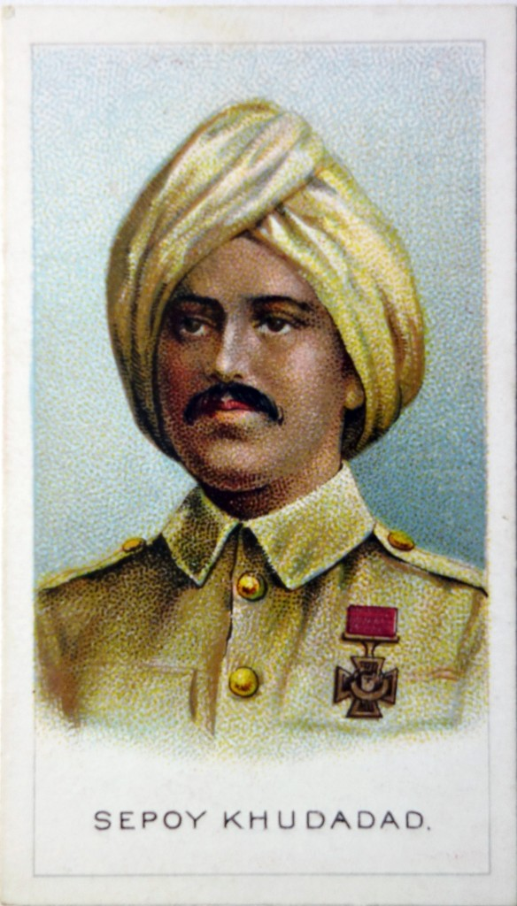Cigarette Card of Sepoy Khudadad Khan 129th Baluchis