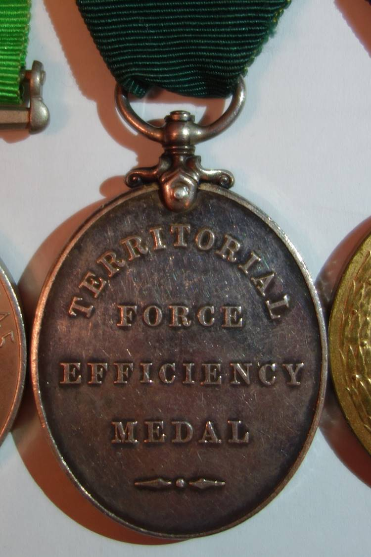 obverse Territorial Force Efficiency Medal Reverse