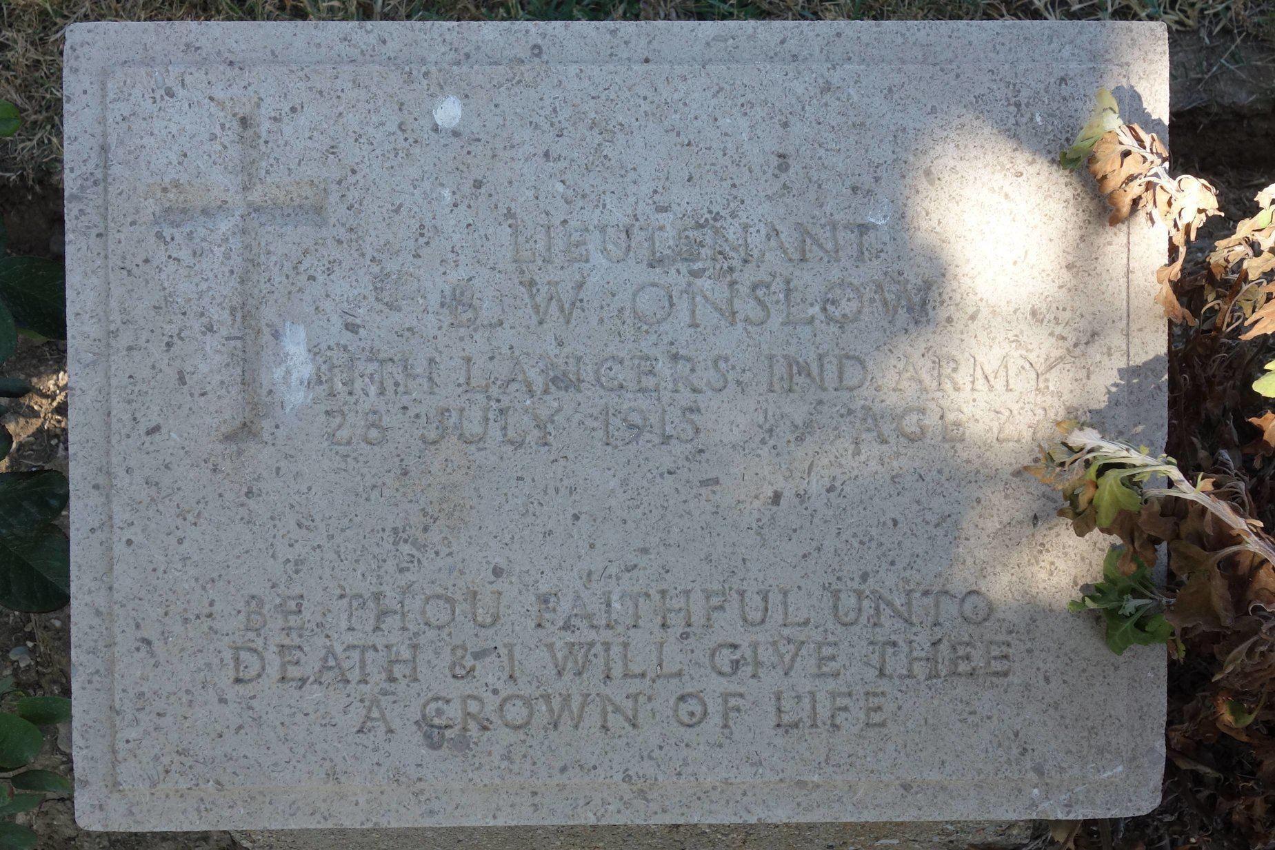 Onslow Beach Cemetery Gallipoli