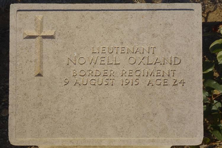 Lieutenant Nowell Oxland Green Hill Cemetery