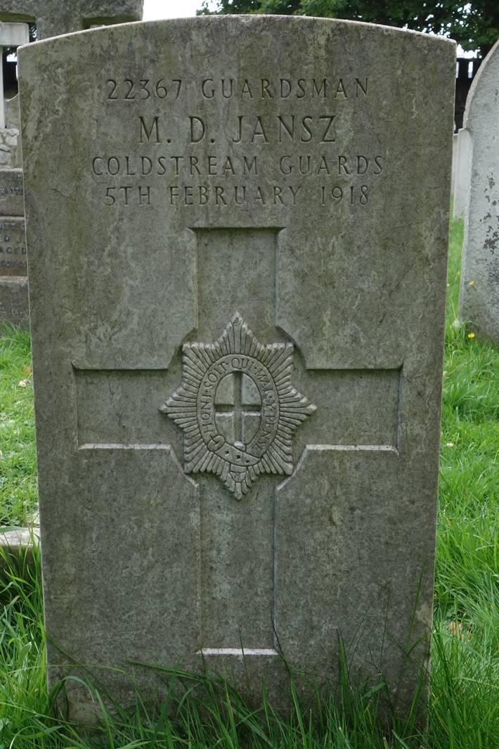 Jansz Coldstream Guards WW1