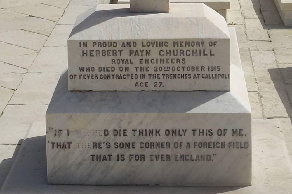 Herbert Payn Churchill Pieta Military Cemetery