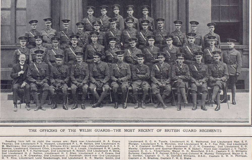 Officers of the Welsh Guards 1915
