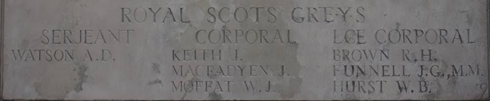 2nd Dragoons (Royal Scots Greys) Poziers Memorial